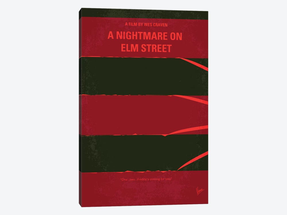 A Nightmare On Elm Street Minimal Movie Poster by Chungkong 1-piece Canvas Art