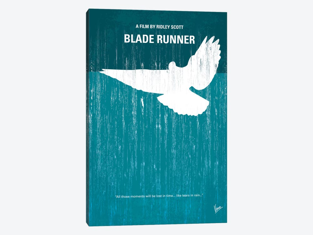 Blade Runner Minimal Movie Poster by Chungkong 1-piece Canvas Art Print