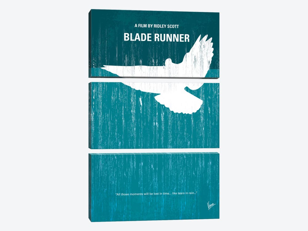 Blade Runner Minimal Movie Poster 3-piece Canvas Art Print