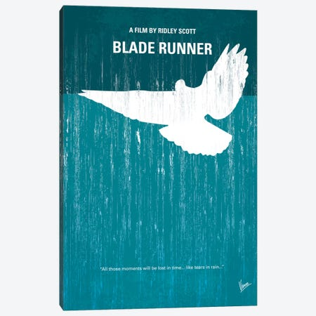 Blade Runner Minimal Movie Poster Canvas Print #CKG26} by Chungkong Canvas Artwork