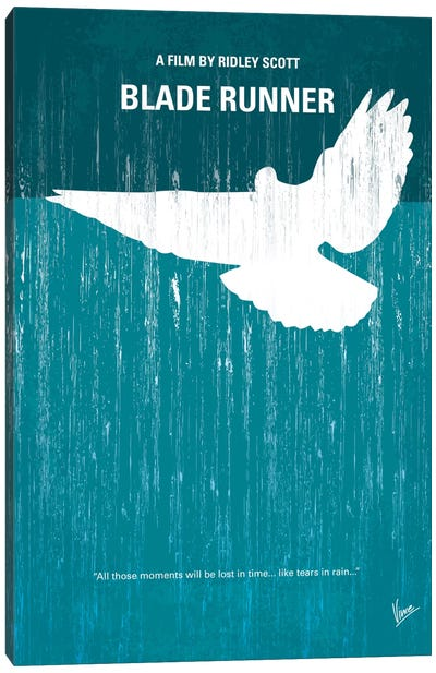 Blade Runner Minimal Movie Poster Canvas Art Print