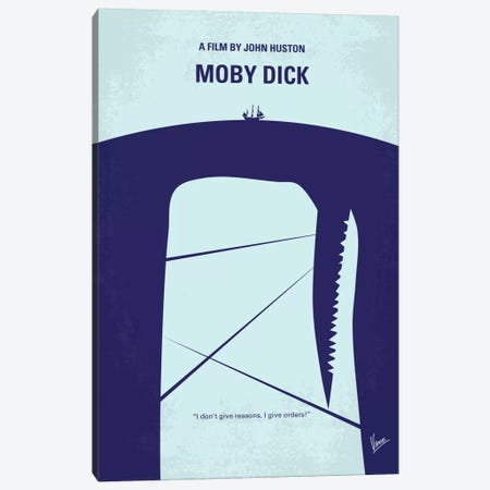 Moby Dick Minimal Movie Poster Canvas Print #CKG270} by Chungkong Canvas Art