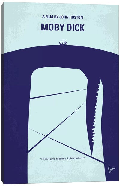 Moby Dick Minimal Movie Poster Canvas Art Print