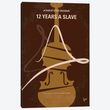 12 Years A Slave Minimal Movie Poster Canvas Print #CKG271} by Chungkong Canvas Art