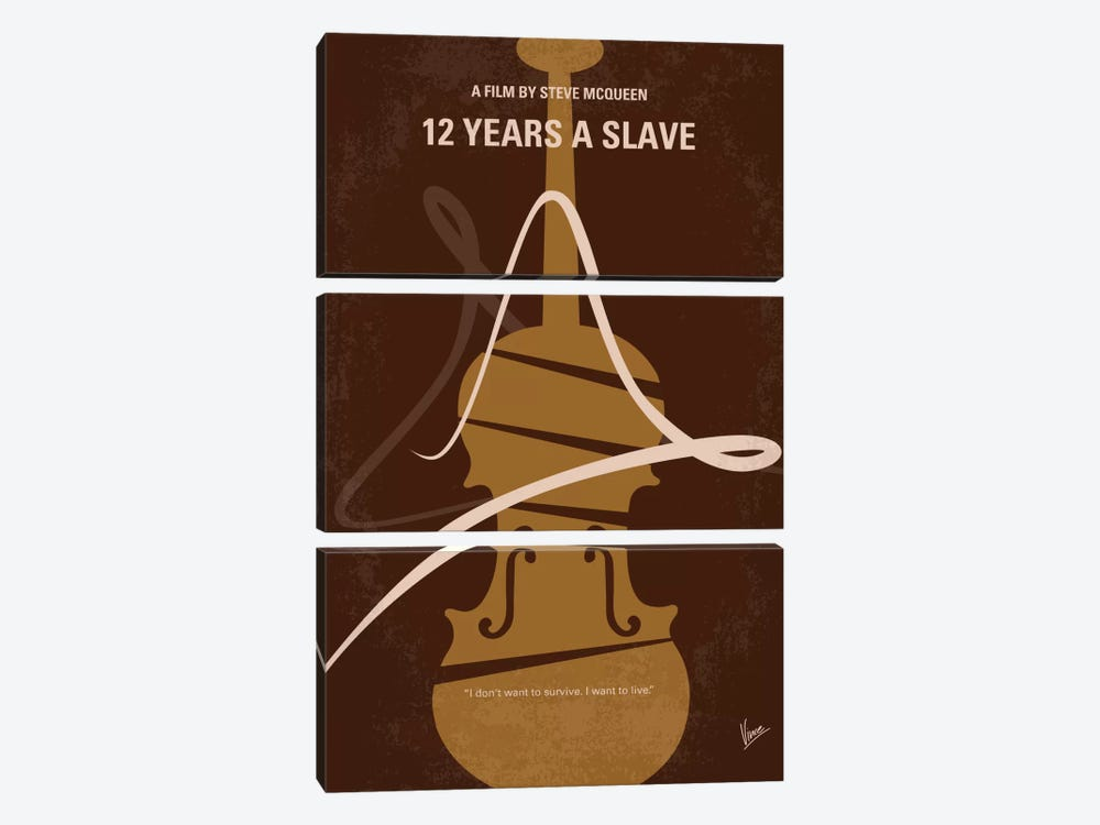 12 Years A Slave Minimal Movie Poster by Chungkong 3-piece Canvas Art