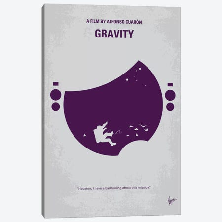 Gravity Minimal Movie Poster Canvas Print #CKG272} by Chungkong Canvas Wall Art