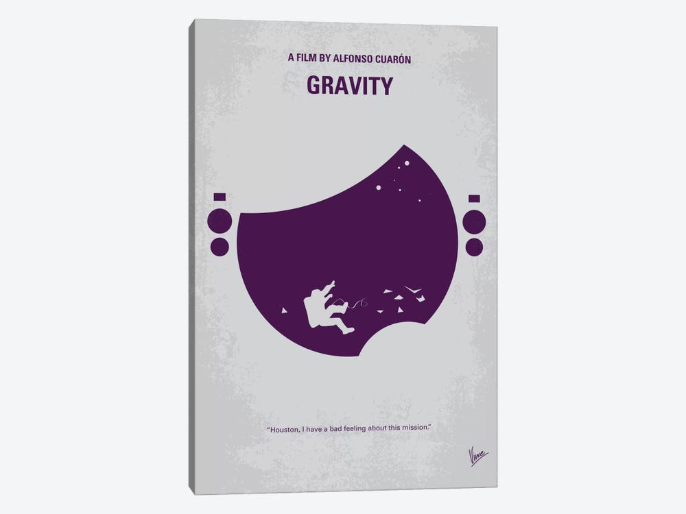 Gravity Minimal Movie Poster by Chungkong 1-piece Canvas Art Print