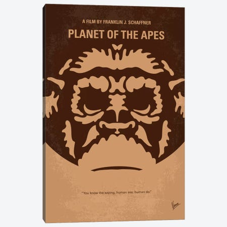 Planet Of The Apes Minimal Movie Poster Canvas Print #CKG273} by Chungkong Canvas Art