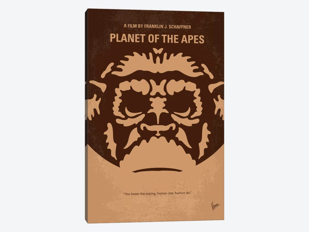 Planet Of The Apes Minimal Movie Poster by Chungkong 1-piece Canvas Artwork