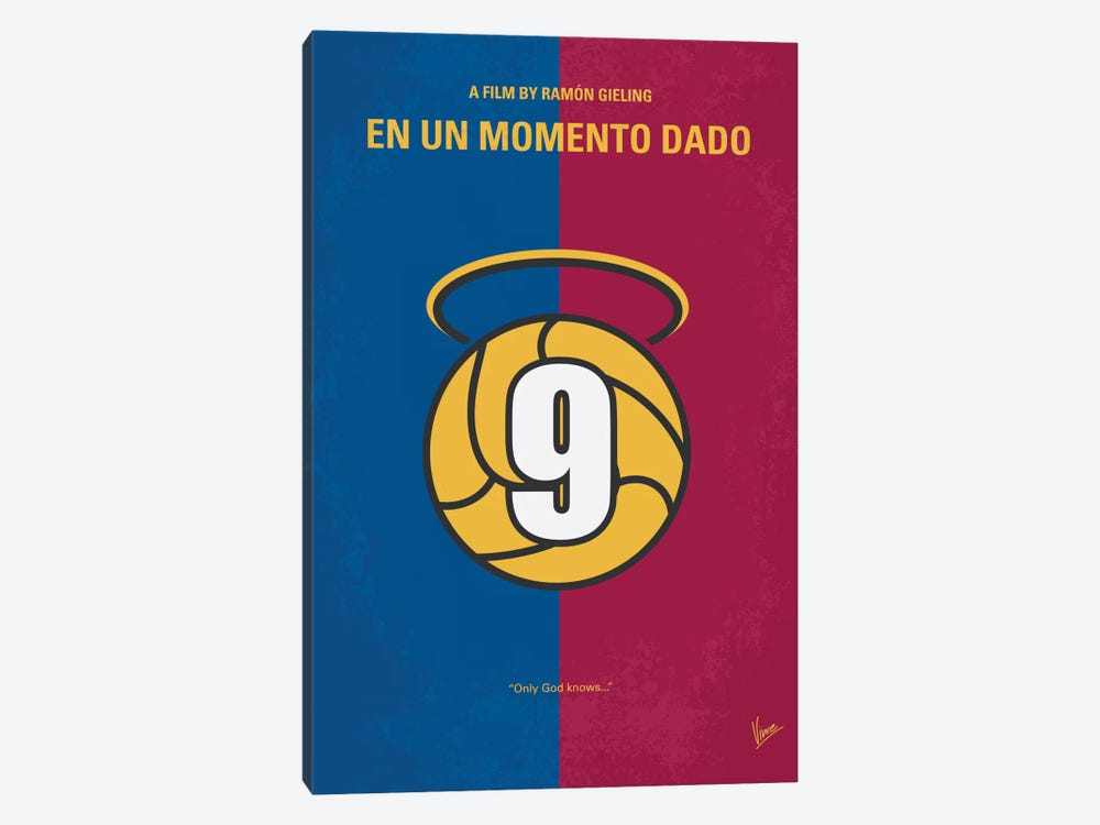 En Un Momento Dado Minimal Movie Poster by Chungkong 1-piece Canvas Wall Art