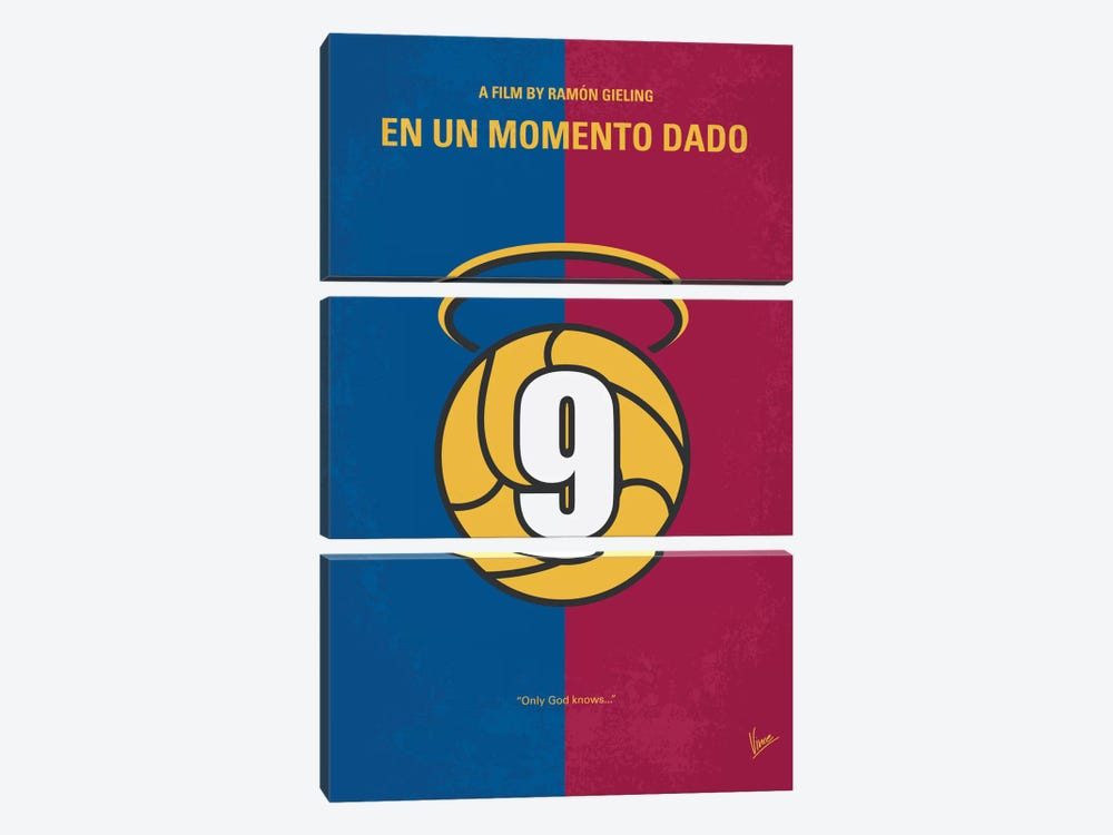 En Un Momento Dado Minimal Movie Poster by Chungkong 3-piece Canvas Artwork