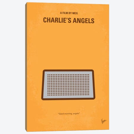 Charlie's Angels Minimal Movie Poster Canvas Print #CKG276} by Chungkong Canvas Art Print