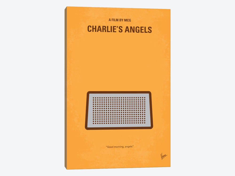 Charlie's Angels Minimal Movie Poster by Chungkong 1-piece Canvas Print