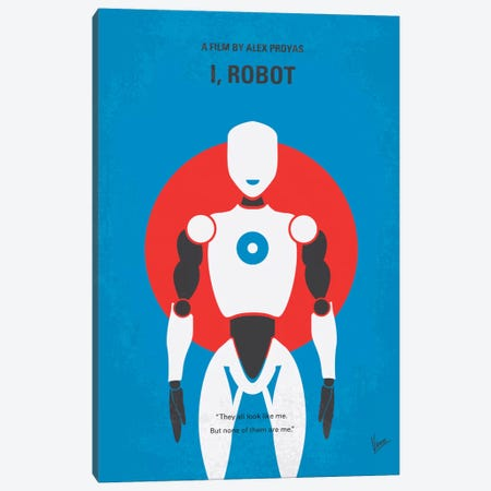 I, Robot Minimal Movie Poster Canvas Print #CKG278} by Chungkong Canvas Artwork