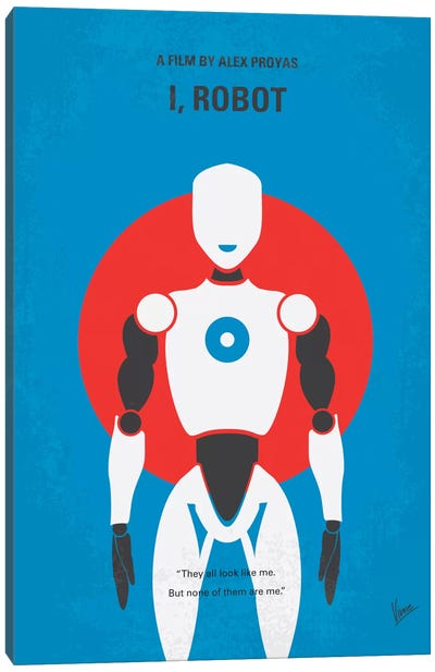 I, Robot Minimal Movie Poster Canvas Art Print