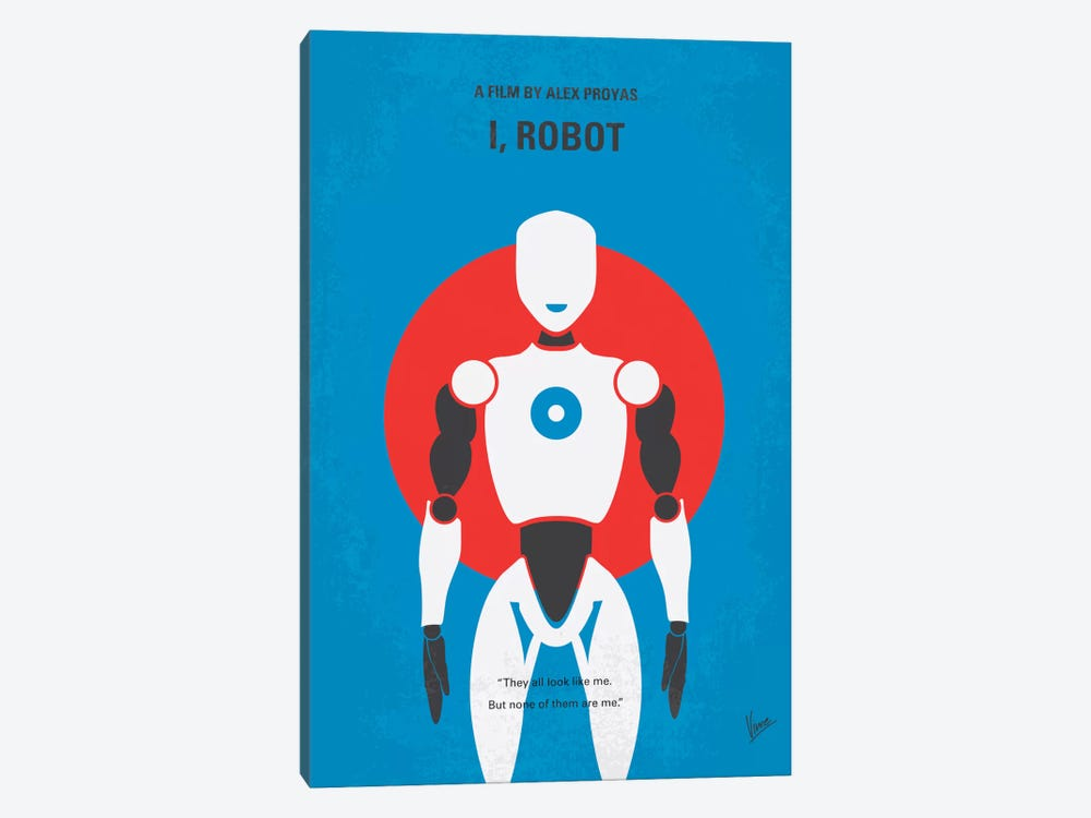 I, Robot Minimal Movie Poster by Chungkong 1-piece Canvas Art Print