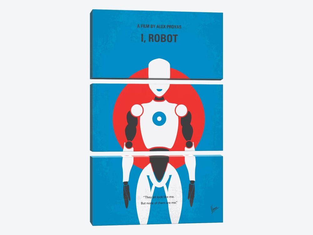 I, Robot Minimal Movie Poster by Chungkong 3-piece Canvas Art Print