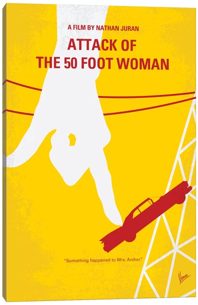 Attack Of The 50 Foot Woman Minimal Movie Poster Canvas Print #CKG279