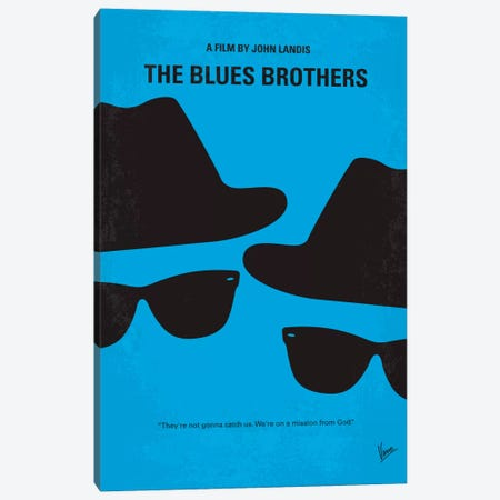 Blues Brothers Minimal Movie Poster Canvas Print #CKG27} by Chungkong Canvas Artwork