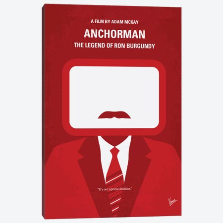 Anchorman Minimal Movie Poster Canvas Print #CKG288} by Chungkong Canvas Print