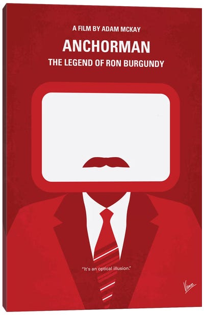 Anchorman Minimal Movie Poster Canvas Art Print