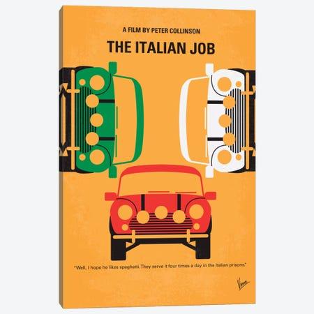 The Italian Job Minimal Movie Poster Canvas Print #CKG289} by Chungkong Art Print