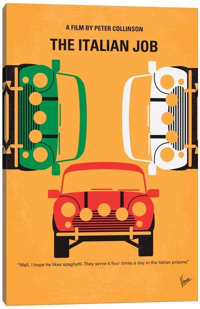 The Italian Job Minimal Movie Poster Canvas Art Print
