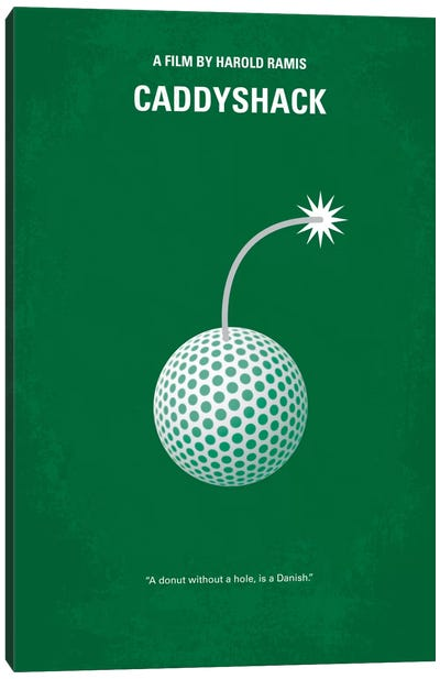 Caddyshack Minimal Movie Poster Canvas Print #CKG28