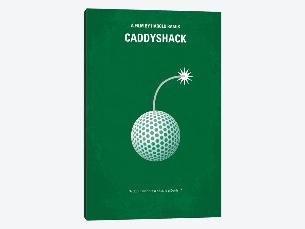 Caddyshack Minimal Movie Poster by Chungkong 1-piece Canvas Print
