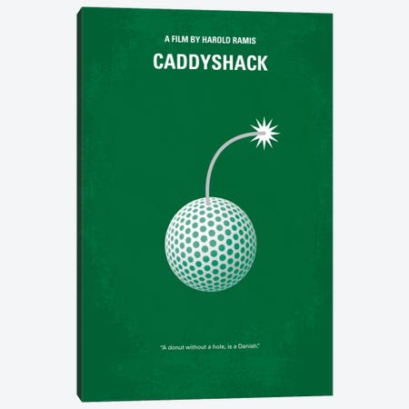Caddyshack Minimal Movie Poster Canvas Print #CKG28} by Chungkong Canvas Print