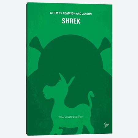 Shrek Minimal Movie Poster Canvas Print #CKG290} by Chungkong Canvas Art