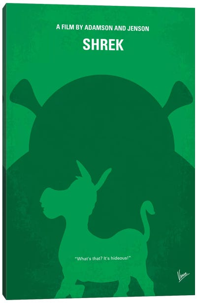 Shrek Minimal Movie Poster Canvas Art Print