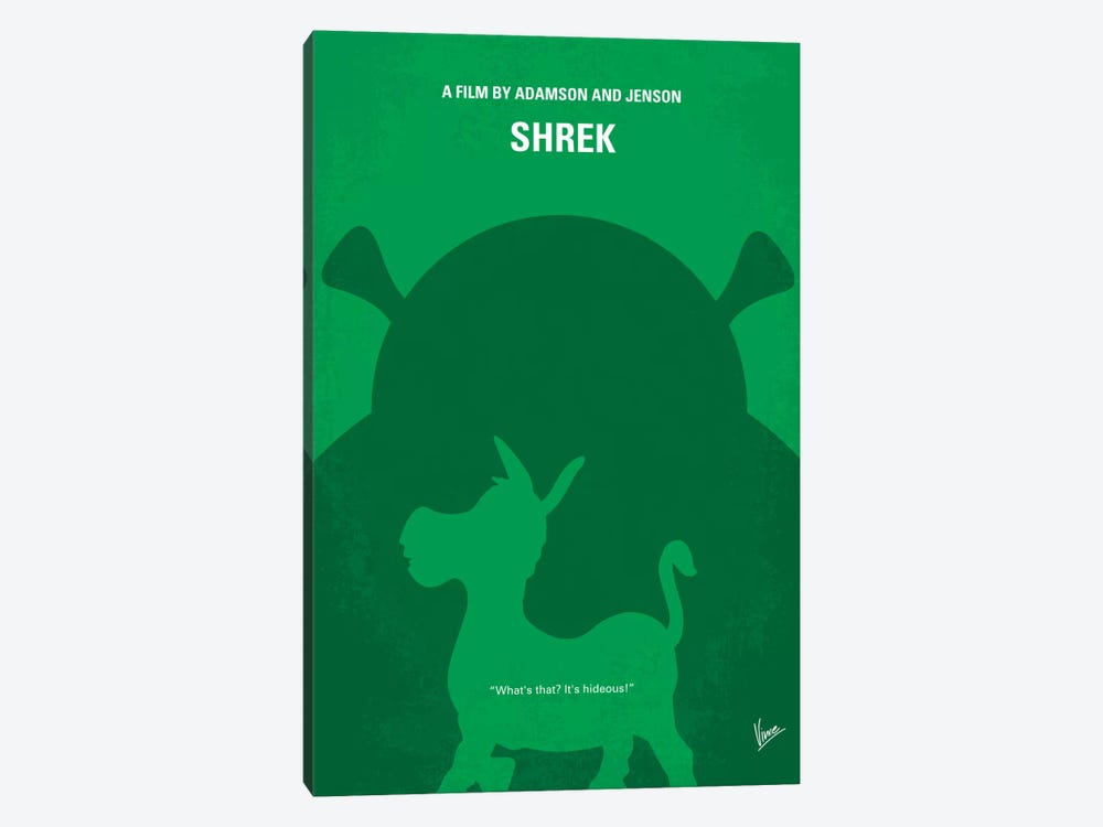 Shrek Minimal Movie Poster by Chungkong 1-piece Canvas Print