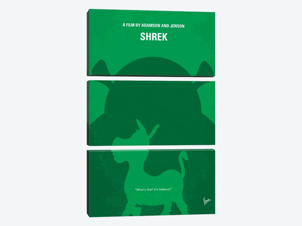 Shrek Minimal Movie Poster by Chungkong 3-piece Canvas Print