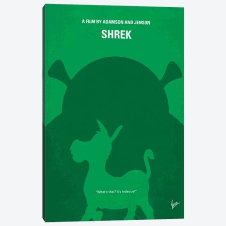 Shrek Minimal Movie Poster Canvas Print #CKG290} by Chungkong Canvas Art