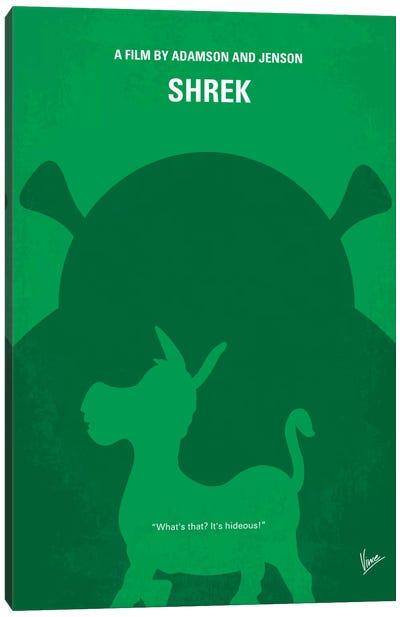 Shrek Minimal Movie Poster Canvas Art Print