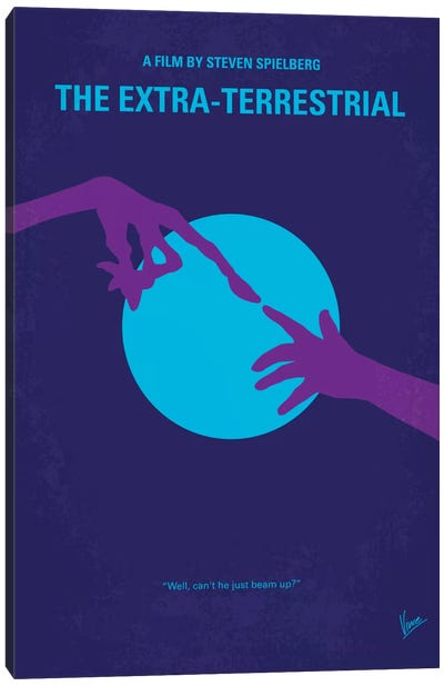E.T. The Extra-Terrestrial Minimal Movie Poster Canvas Art Print