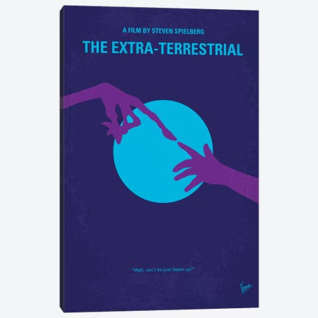E.T. The Extra-Terrestrial Minimal Movie Poster Canvas Print #CKG292} by Chungkong Canvas Wall Art