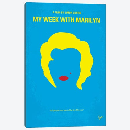 My Week With Marilyn Minimal Movie Poster Canvas Print #CKG294} by Chungkong Canvas Art Print