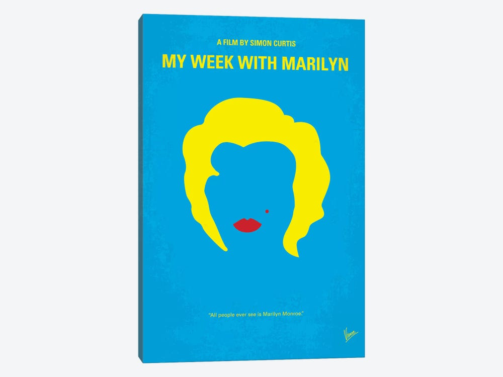My Week With Marilyn Minimal Movie Poster by Chungkong 1-piece Canvas Print