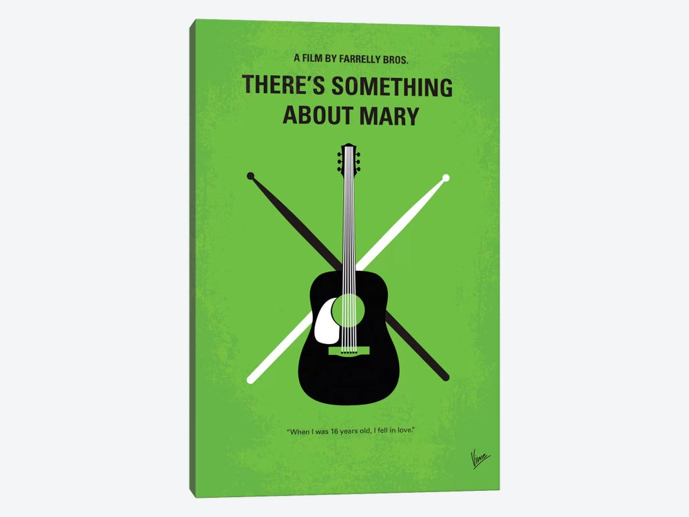 There's Something About Mary Minimal Movie Poster by Chungkong 1-piece Canvas Print