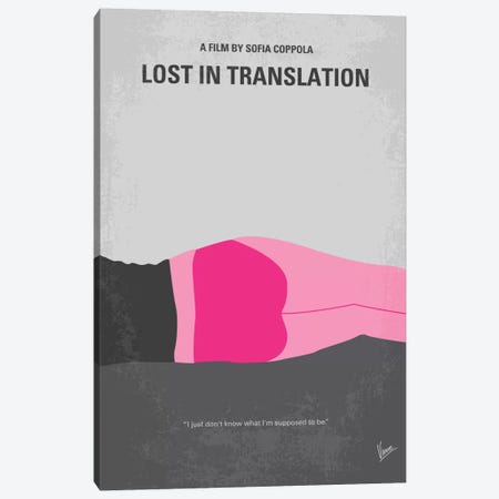 Lost In Translation Minimal Movie Poster Canvas Print #CKG297} by Chungkong Art Print
