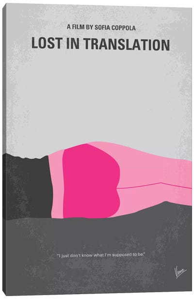Lost In Translation Minimal Movie Poster Canvas Art Print