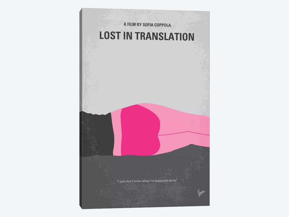 Lost In Translation Minimal Movie Poster by Chungkong 1-piece Canvas Art