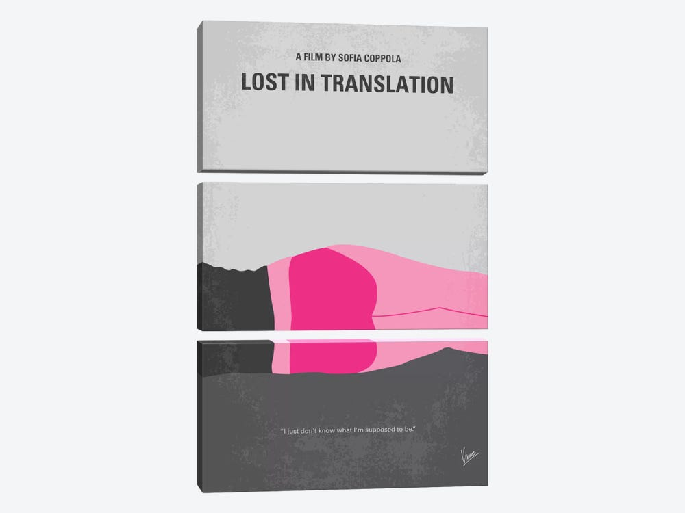 Lost In Translation Minimal Movie Poster by Chungkong 3-piece Canvas Art