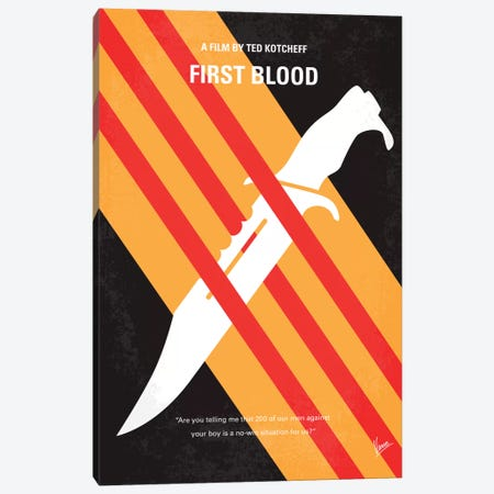 Rambo Minimal Movie Poster Canvas Print #CKG298} by Chungkong Canvas Artwork