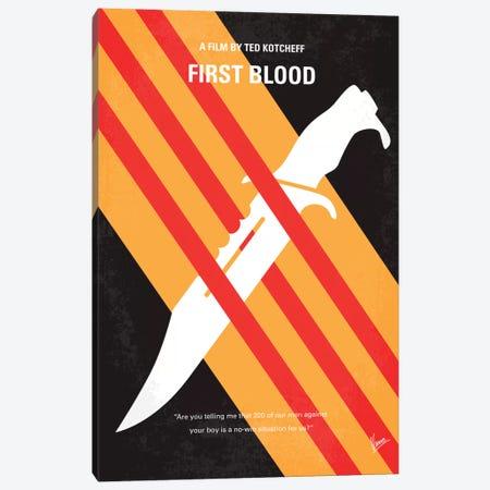 Rambo Minimal Movie Poster Canvas Print #CKG298} by Chungkong Canvas Artwork