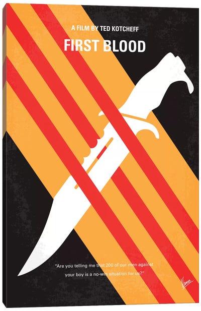 Rambo Minimal Movie Poster Canvas Art Print