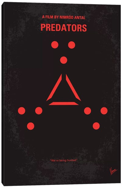 Predators Minimal Movie Poster Canvas Print #CKG299
