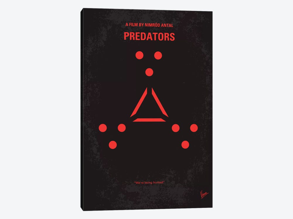 Predators Minimal Movie Poster by Chungkong 1-piece Canvas Art